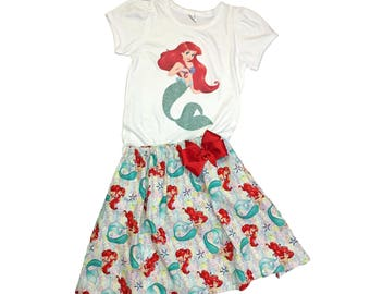 Girl Ariel birthday outfit Girl outfit Girl Little Mermaid dress Girl outfit Girl Ariel outfit Girl Name Age Little Mermaid dress