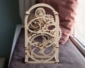 DIY model kit Timer with bell - Moving 3D wooden puzzle - 20 min Timer - Christmas gift