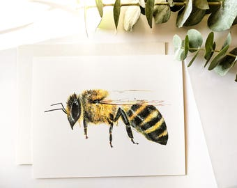 Bee Print, Honey Bee Print, 8x10'', Save The Bees, Prints, Bee Print, Bee Art