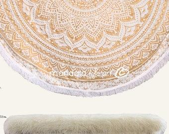 Mandala Tapestries Wall Hanging, Hippie Wall Tapestries, Round Beach Sheet, Bohemian Chic Wall Decor