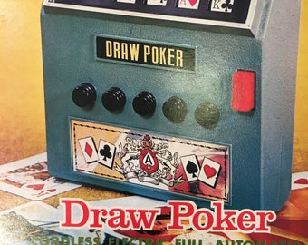 vintage, battery operated Draw POKER game