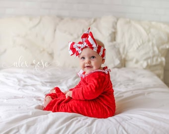RUBY STRIPES Gorgeous Wrap- headwrap; fabric head wrap; stripe head wrap; boho; newborn headband; baby headband; toddler headband