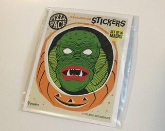 Monster Mask Sticker Package
