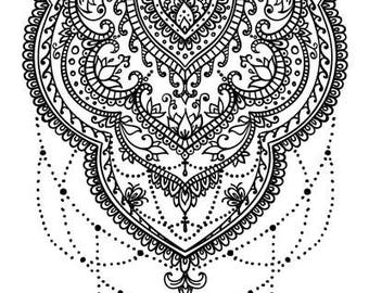 Sets Lace Temporary Tattoos