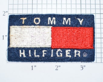 Tommy Hilfiger Iron-On Patch Authentic Vintage Patch Clothing Patch Embroidered Patch Collectible Sewing Applique Insignia Logo Emblem e32p