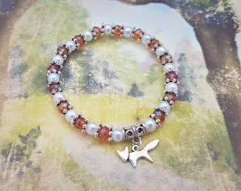Fox Bracelet, Nature Bracelet, Fox Jewellery, Nature Jewelry, Fox Lover, Foxy, Fox Gift, Hippie Gift, Woodland Critters, Autumn Bracelet