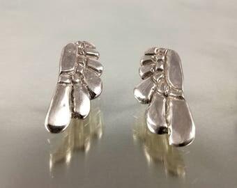 Feather silver earrings - 925 sterling silver feather earrings - Unique earrings - Feather silver jewelry - Massive earrings -Gift for women