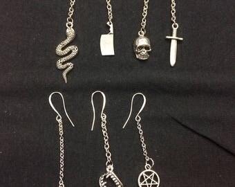 Earrings on chain