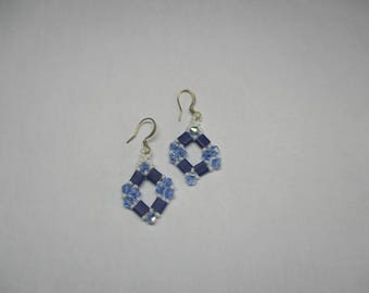 Tila and swarovski earrings