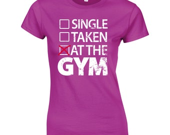 At the GYM. Ladies Funny T-Shirt Fitness Gym Training MMA Birthday Gift Women Top