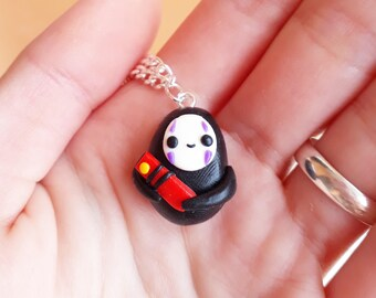 No Face Kaonashi Necklace or Keychain Kawaii Spirited Away Studio ghibli