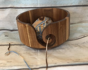 Yarn Bowl made from Acacia wood