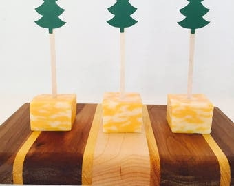 15 Pine Tree Appetizer Picks - Woodland Baby Shower - Camping Theme Party - Christmas - Forest - Birthday Party - Food Picks