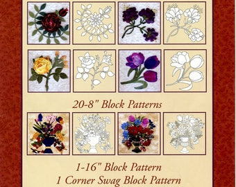 124 Full Size Block Patterns for the Book by Janice Vaine The Art of Elegant Hand Embroidery, Embellishment and Applique 2011