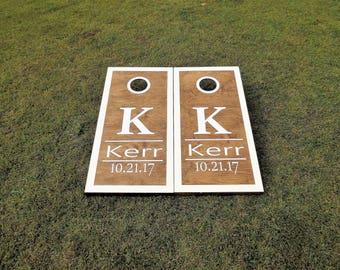 Wedding Cornhole Boards with 8 bags|Wedding Games|Bag Toss|Corn Toss|Baggo|Lawn Games|Wedding Party Gifts|Wedding Gifts|Regulation Size