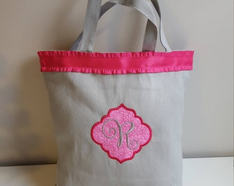 Custom Canvas Tote - Personal Monogram Canvas Bag - Custom Canvas Bag - Embroidered Canvas Bag - Canvas Tote - Canvas Bag - Custom Gift Bags