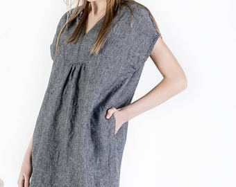 Linen dress, natural linen clothing, plus size linen dress, dress for women, women linen loose dress