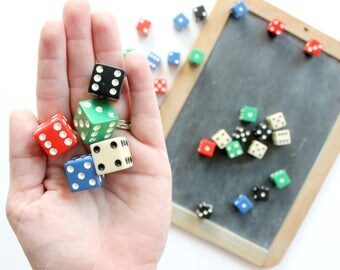 Colored Dice Collection, Game Dice