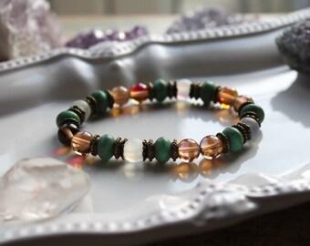 Turquoise Bracelet, Ethnic Bracelet, Boho Bracelet, Reiki Bracelet, Meditation Bracelet, Yoga Bracelet, Protection Bracelet, Cleansing