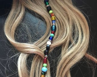 Pirate Gypsy Clip in Hair Beads