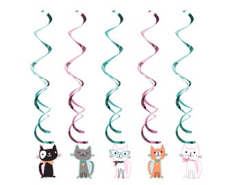 Cat Party Decorations  - Cat Birthday - Kitty Baby Shower - Cat Party Supplies - Meow Birthday - Kitten Birthday - Kitty Birthday - Cats