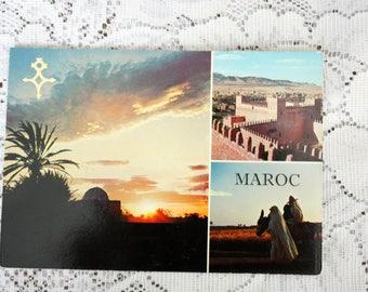 Morocco Postcard, Desert Postcard, Casablanca postcard, Vintage Morocco souvenir