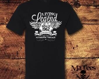 56th Birthday, 56 Birthday, 56th Birthday Shirt, 56 Birthday Shirt, 1962, Living Legend, Birthday, Birthday Gift, Birthday Shirt, T-Shirt