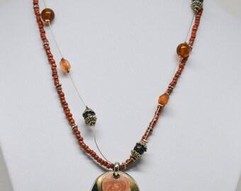 Simple bu tlovely multi strand beaded necklace
