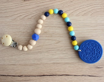 Silicone teether biscuit Oreo, Blue oreo teething toy, silicone cookie teether, Newbort teething toy, DIY teether, Infant teethers