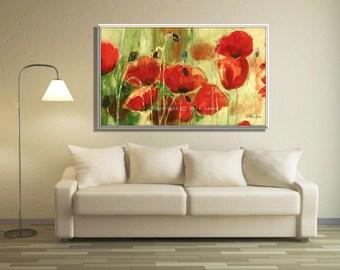 Modern Painting, Large Painting, Original Artwork, Large Wall Painting, Floral Painting, Modern Oil Painting, Extra Large Painting