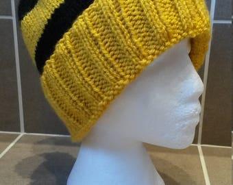 Hufflepuff Inspired Beanie Hat