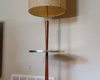 Mid Century Floor Lamp with Table