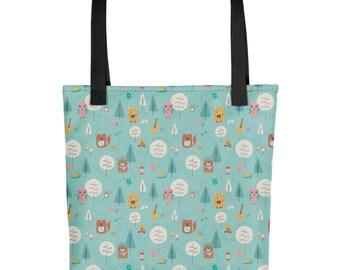 Let's Camp Tote bag   Bag   Studio Carrie   Gift