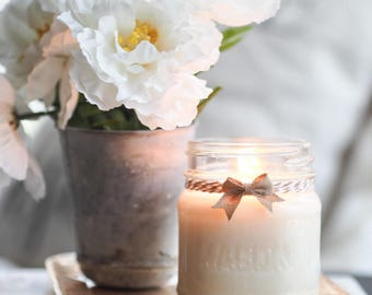 Floral Shop, Hand Poured, All Natural Soy, Mason Jar Candle, Farmhouse, Rustic, Home Decor
