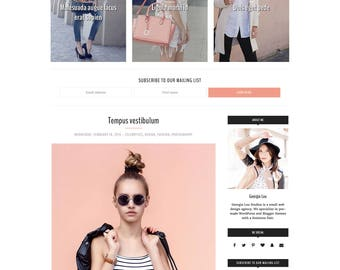 Simply beautiful blogger templates and by blogshopbygeorgialou fashion blogger template premade blogger template responsive bold dramatic customizable pronofoot35fo Choice Image