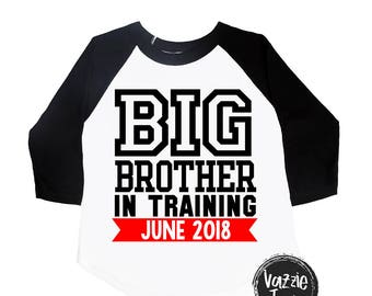 Big Brother in Training - Big Brother - Promoted to Big Brother - Announcement Shirts - Brother Shirts - Big Brother to Be - Boys' Shirts