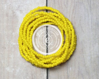 Waist Beads #103 | Belly Beads | African Inspired | Belly Chains | Lemon Yellow