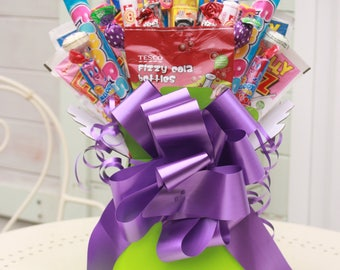 Sweet Bouquet. Sweet Hamper. Box of Sweets. Retro Sweets Gift. Sweet Gift. Perfect Gift. Selection of Sweets. Candy Bouquet. Perfect Gift