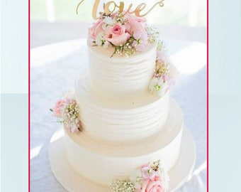"SaleThe ""Love"" wedding cake topper."