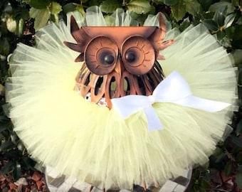 Pastel Yellow Tutu, Baby Tutu, Light Yellow Tutu, Yellow Tutu, Toddler Tutu, Tutu, Spring Tutu, Easter Tutu, Yellow Tutu, 1st Birthday Tutu