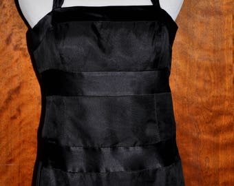 Black Vintage Rina Di Montella Evening Gown, Rina DiMontella Full Length Gown, Vintage Rina DiMontella, Vintage Black Halter Gown, Prom Gown