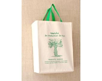 French Market Bag, Farmers Market Bag, Brussel Sprouts, Reusable Grocery Bag, Grocery Bag, Reusable Bag, Tote Bag, Canvas Bag
