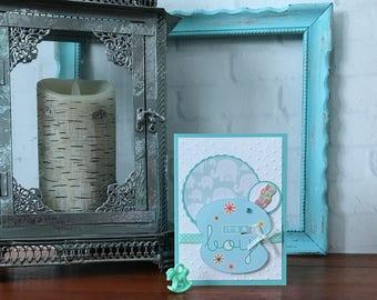 New Born Baby Boy Card, New Baby Boy Card, New Baby Card, Baby Shower Card, Handmade Baby Card, Homemade Baby Card, New Baby Boy Wishes