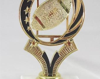 Football Trophy - Free Engraving, Football Award,  Unisex Football Trophy, Participation Award, Team Trophies -Black and Gold Football Award
