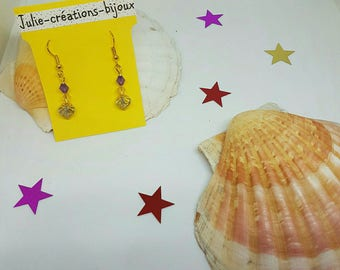Crystal and bicone earrings
