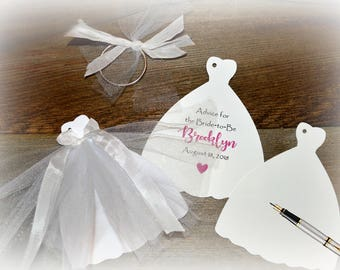 Advice for the Bride, Bridal Shower Advice Cards, Guest Book Alternative, Bridal Shower, Personalized Advice Book, Bridal Advice Cards