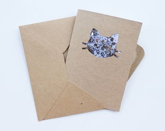 Cat Confetti Card