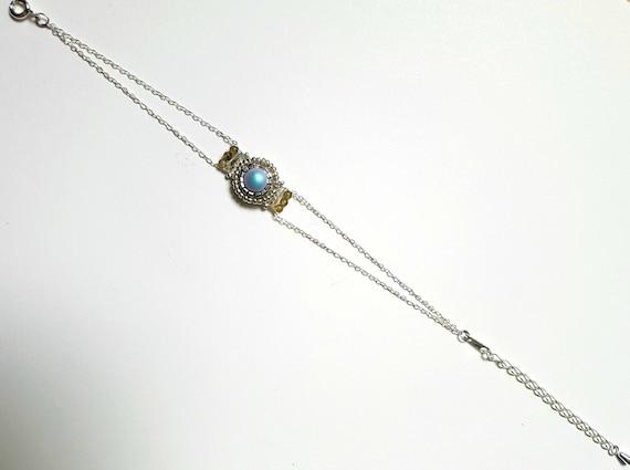 pearly blue cristal bracelet