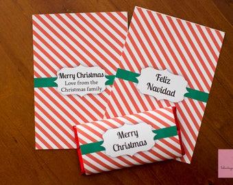 Christmas Printable Chocolate Wrapper