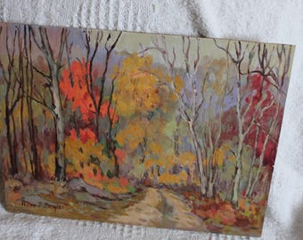 Vintage Oil Painting Anne Jaffray Ziegler Canadian Group Style Art Canada Forest Home Decor Listed Artist